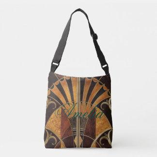 Bolsa Ajustável arte Nouveau, art deco, vintage, multi cores de