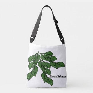 Bolsa Ajustável As mulheres naturais com folhas verdes projetam na