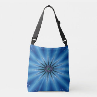 Bolsa Ajustável Azuis marinhos Starburst artístico