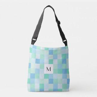 Bolsa Ajustável Azul do monograma e saco para o transporte de