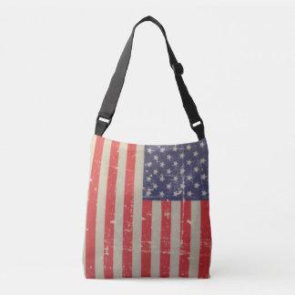 Bolsa Ajustável Bandeira americana resistida, afligida dos EUA