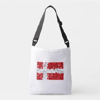 Bolsa Ajustável Bandeira de Dinamarca, saco dinamarquês das cores