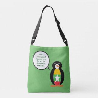 Bolsa Ajustável Bandeira de fala do pinguim do birmanês ou do