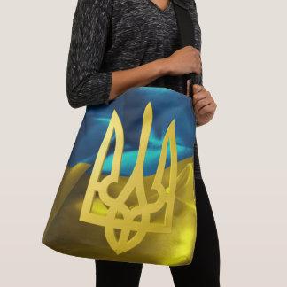 Bolsa Ajustável Bandeira de Ucrânia 3D e sacola de Tryzub
