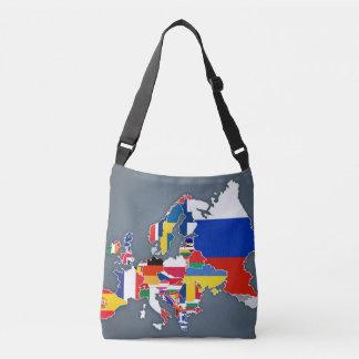 Bolsa Ajustável Bandeiras de país européias do mapa |
