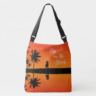 Bolsa Ajustável Beijo nas férias tropicais do casal do por do sol