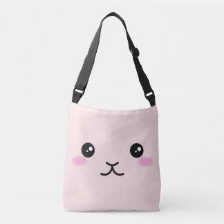 Bolsa Ajustável Bonito, kawaii, design cor-de-rosa do coelho