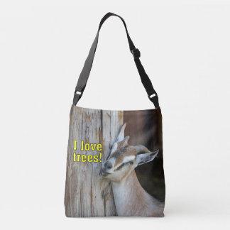 Bolsa Ajustável Cabra engraçada das árvores de amor de I que