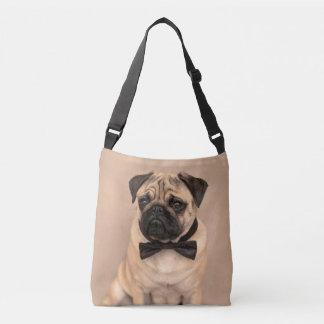 Bolsa Ajustável Cão do Pug da jovem corça com laço