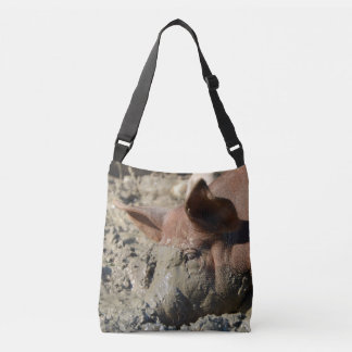Bolsa Ajustável Cara enlameada engraçada do porco