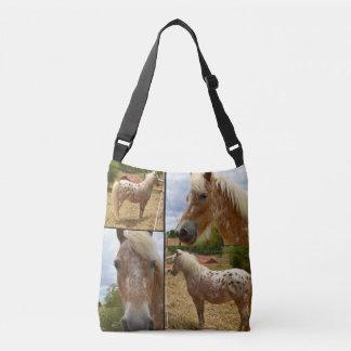 Bolsa Ajustável Cavalo do Appaloosa, saco de Crossbody da colagem