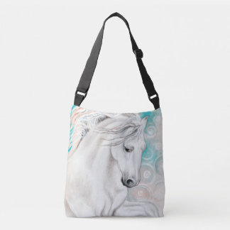 Bolsa Ajustável Cavalos andaluzes azuis