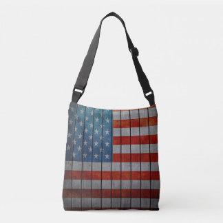 Bolsa Ajustável Cerca pintada da bandeira americana