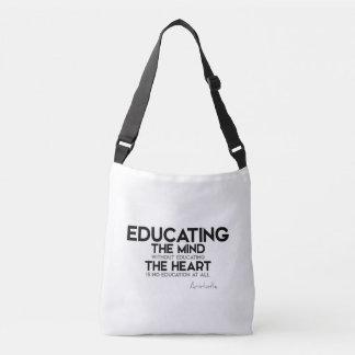 Bolsa Ajustável CITAÇÕES: Aristotle: Educando a mente, coração