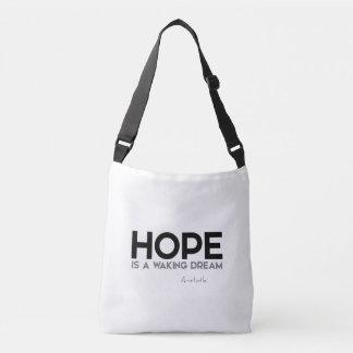 Bolsa Ajustável CITAÇÕES: Aristotle: Esperança: acordando o sonho