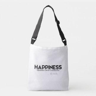 Bolsa Ajustável CITAÇÕES: Aristotle: Felicidade