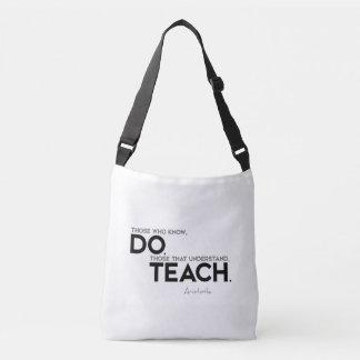 Bolsa Ajustável CITAÇÕES: Aristotle: Saiba, fazem, para ensinar