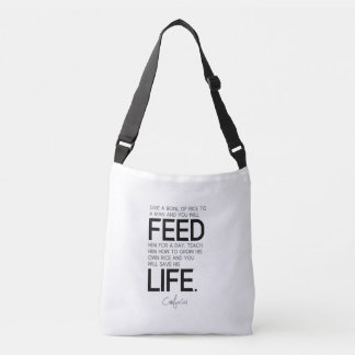 Bolsa Ajustável CITAÇÕES: Confucius: A bacia de arroz, cresce o