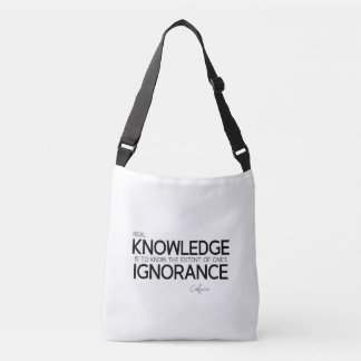 Bolsa Ajustável CITAÇÕES: Confucius: Conhecimento real