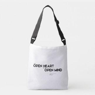 Bolsa Ajustável CITAÇÕES: Dalai Lama - coração aberto, mente