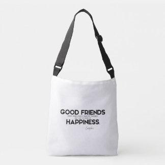 Bolsa Ajustável CITAÇÕES: Euripides: Bons amigos, felicidade