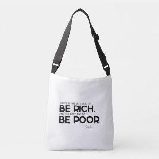 Bolsa Ajustável CITAÇÕES: Euripides: Seja rico, seja pobre