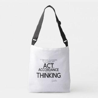 Bolsa Ajustável CITAÇÕES: Goethe: Para actuar é dura