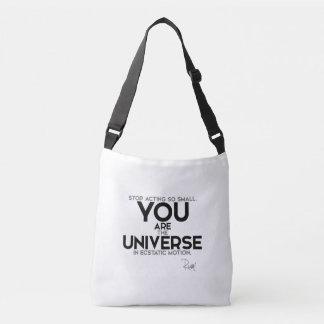 Bolsa Ajustável CITAÇÕES: Rumi: Você é o universo