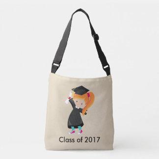 Bolsa Ajustável Classe vermelha fêmea do diploma do vestido do