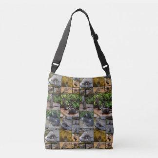 Bolsa Ajustável Colagem da foto da lontra, saco completo de