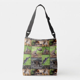 Bolsa Ajustável Colagem da foto do canguru, saco completo de