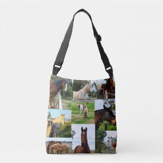Bolsa Ajustável Colagem da foto do cavalo,