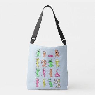 Bolsa Ajustável Colora o saco lateral dos gatos