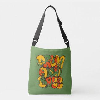 Bolsa Ajustável cor da reggae do cilindro e do baixo - logotipo,