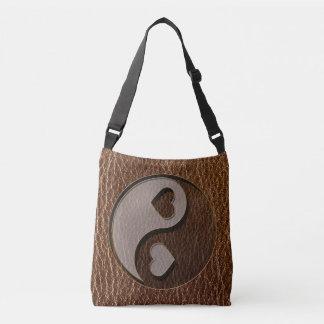 Bolsa Ajustável Coração de Yin Yang do Couro-Olhar