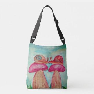 Bolsa Ajustável Costume romance do caracol por todo o lado no saco