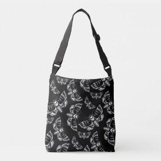 Bolsa Ajustável Crânio gótico preto e cinzento da traça de falcão