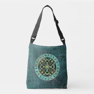 Bolsa Ajustável Cruz celta decorativa - e alfabeto dos Runes