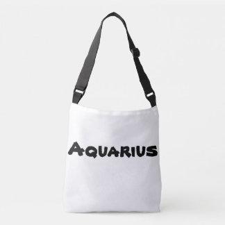 Bolsa Ajustável Cruz-sobre-saco do zodíaco do Aquário