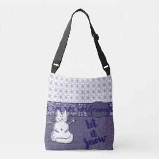 Bolsa Ajustável Deixais lhe para nevar boneco de neve do gato