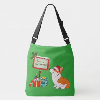Bolsa Ajustável Desenhos animados do Corgi do Feliz Natal