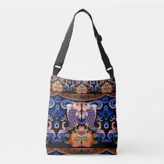 Bolsa Ajustável Design chinês bordado dos peixes