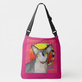 Bolsa Ajustável Design louco do gato com gato Ninja de Sphynx no