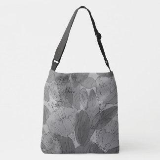 Bolsa Ajustável design original contempory floral esboçado da arte