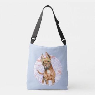 """Bolsa Ajustável Do """"orelhas coelho"""" pintura da aguarela do cão de"""