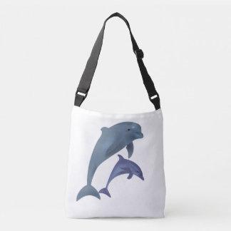 Bolsa Ajustável Dois golfinhos tropicais que saltam ao lado de se