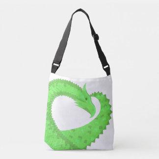 Bolsa Ajustável Dragão do coração do verde limão no branco