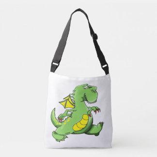 Bolsa Ajustável Dragão verde dos desenhos animados que anda em