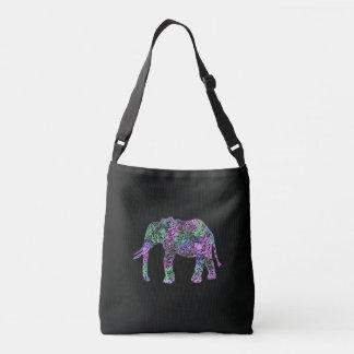Bolsa Ajustável elefante de néon floral tribal colorido
