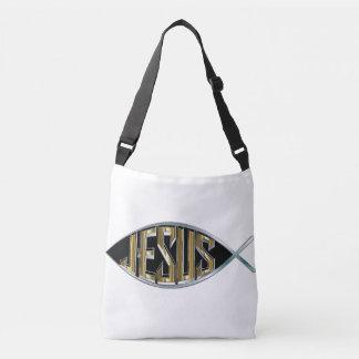 Bolsa Ajustável Entalhe dos peixes de Jesus